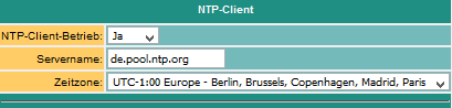 NTP-Client settings